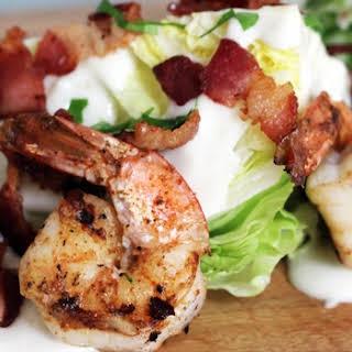 Grilled Shrimp Iceberg Lettuce Wedge Salad..