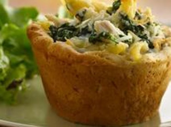 Individual Chicken Alfredo Pasta Mini Pies Recipe