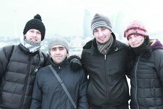 Photo: Baku - mes su mus priėmusiais vietiniais.  Baku - with our new Baku friends.