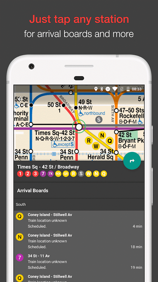 New York Subway MTA Map (NYC)- スクリーンショット