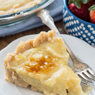 No Bake Creme Brulee Pie