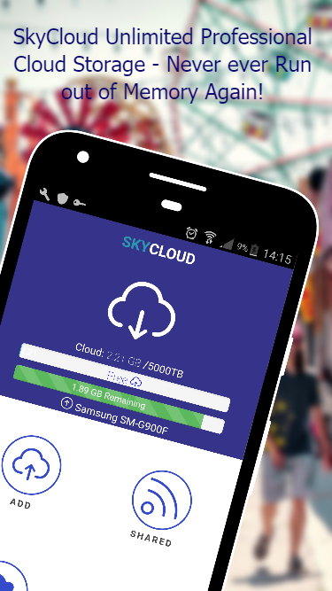 SkyCloud - Unlimited Storage- screenshot