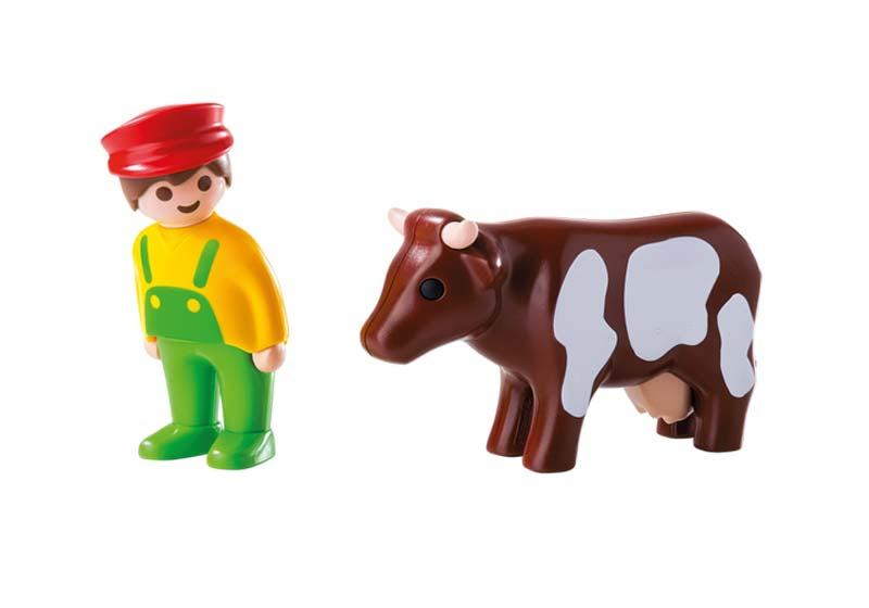 Contenido real de Playmobil® 6972 Granjero con Vaca