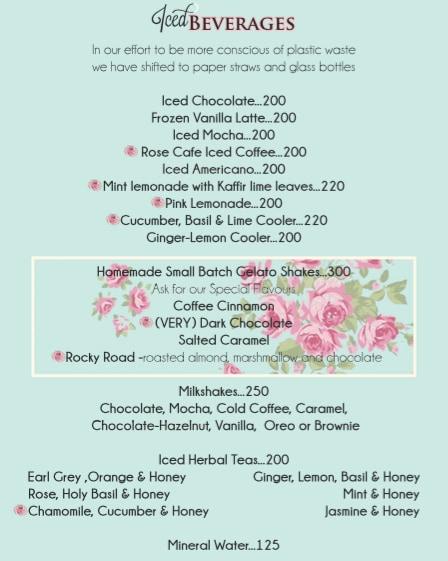 Rose Cafe menu 14