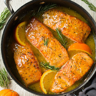 Orange-Rosemary Glazed Salmon