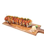 111. Tuna Grilled Salmon Sushi Roll