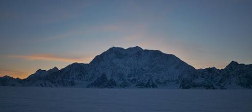 Photo: Sunset behind Mount Logan.