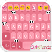 Cute Panda Emoji Keyboard Skin