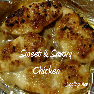 Sweet and Savory Chicken.