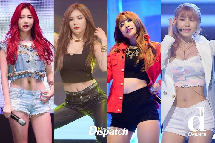 e15cab1efbdf Dispatch lists down the female idols with the best milky-white abs