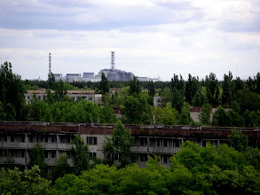 Photo: In the shadow of Chernobyl nuclear power plant