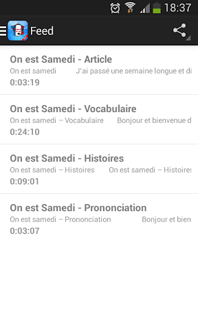 android learn french speak french Screenshot 2