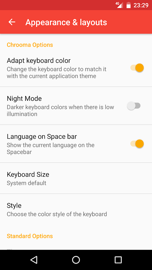 how to change language on logitech keyboard for android