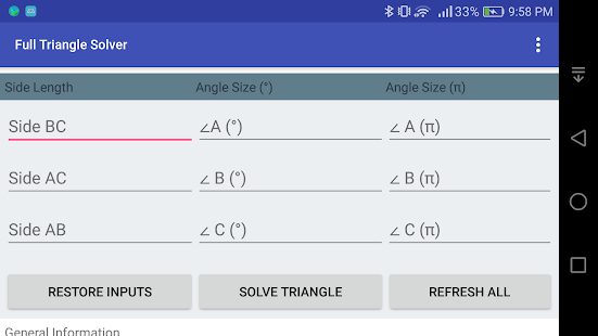 Full Triangle Solver- screenshot thumbnail