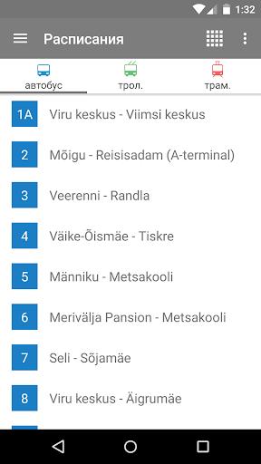 Таллинн Транспорт - расписания