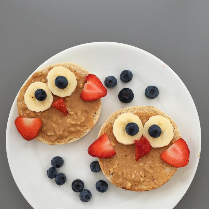 Wise Owl Fruity Toast – Kids Breakfast Recipe