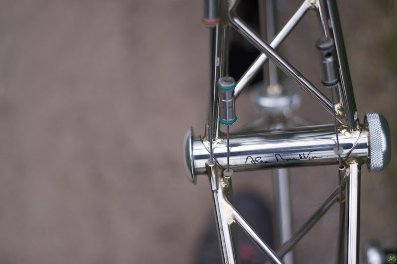 Photo: We visited Moulton's factory, test rode Moultons, and had an audience with Alex Moulton himself.