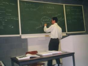 Photo: Teaching at the Katholieke Hogeschool Limburg, 2000