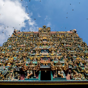 Meenakshi Temple by Chandrasekhar Yanamandra - Buildings & Architecture Places of Worship ( temple, historical, structure, architecture )