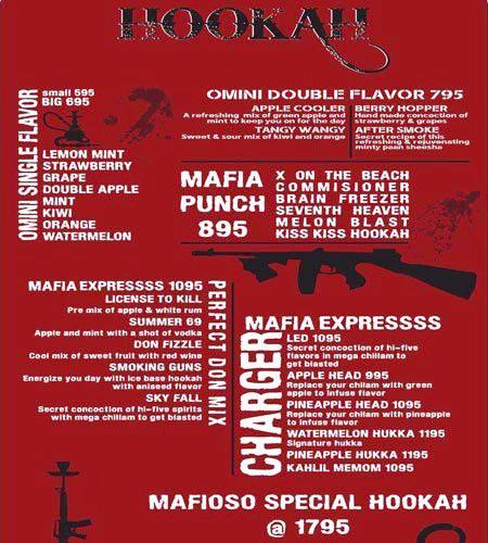 Mafioso menu 1