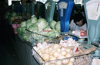 Photo: 03091 ウランバートル/風景/ダライ・エージ(海の母)/食料品専門の市場/野菜