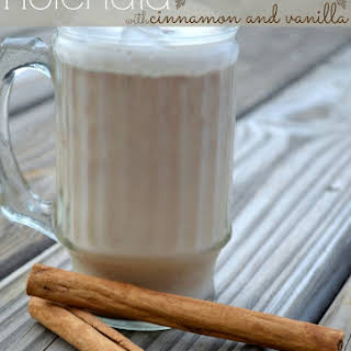 Mexican Horchata with Cinnamon and Vanilla.