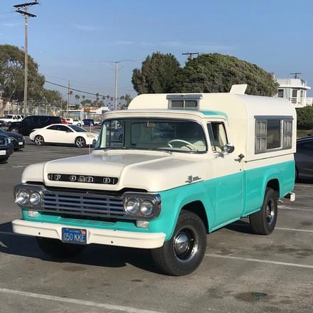 1959 Ford F100 Custom Cab w/original Camper. Hire CA