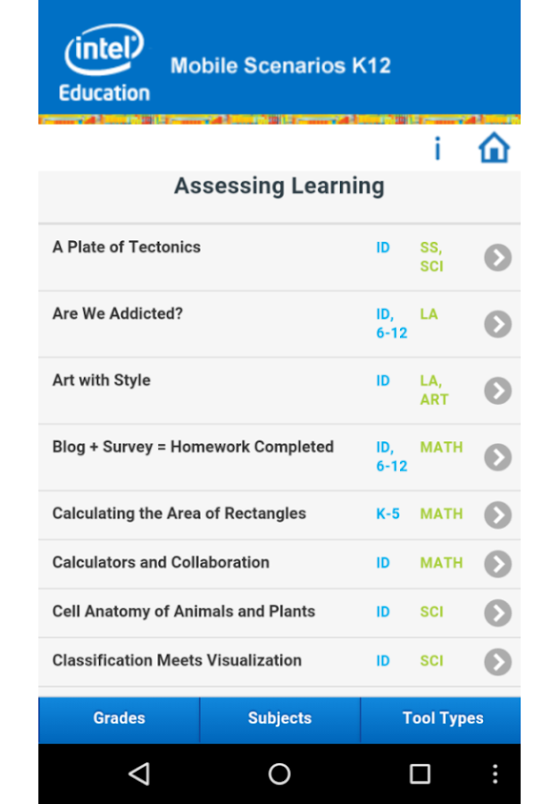 Mobile Scenarios for K12 - screenshot