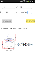 Screenshot of Volume Calculator