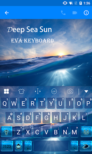 玩免費遊戲APP|下載Deep Sea Sunset Emoji Keyboard app不用錢|硬是要APP