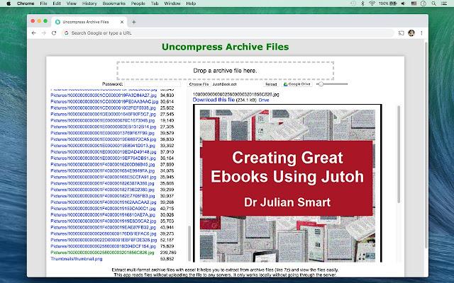 Uncompress Archive Files