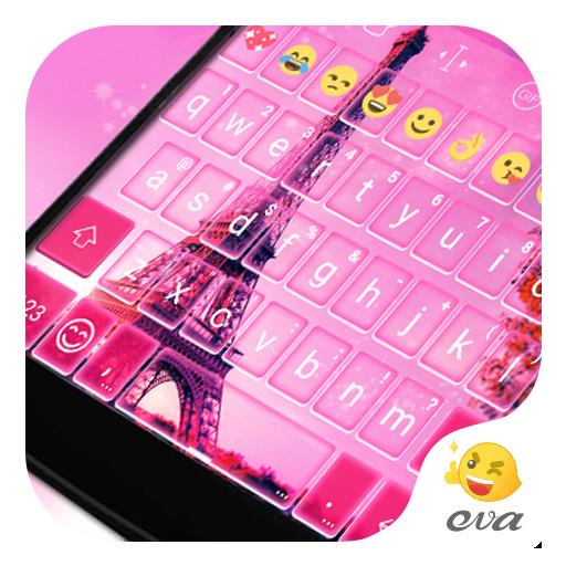 2016 Pink Paris Keyboard Theme 遊戲 App LOGO-硬是要APP