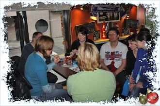 Photo: Tussenstop bij den Hans in café Het Wiel.