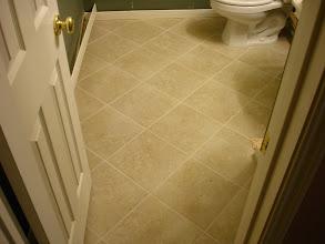 Photo: 13x13 tile installed diagonal