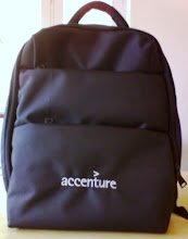 Photo: Accenture  Laptop  Backpack