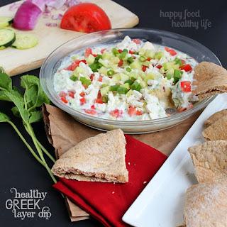 Healthy Greek Layer Dip.