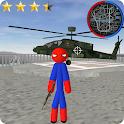 Stickman Spider Rope Hero Gangstar City icon