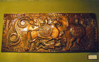 Photo: Illyrian belt buckle from Selca, c230 BC, Museum of Tirana.