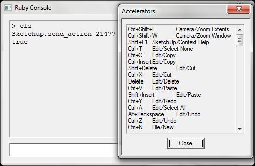 Photo: Display the same string as Sketchup.get_shortcuts