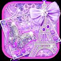 Purple Paris Butterfly Keyboard icon