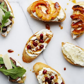 Whipped Ricotta Crostini (a.k.a the easiest appetizer ever).