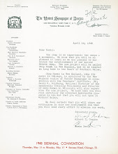 Photo: United Synagogue Letter about Ramah New England in Main