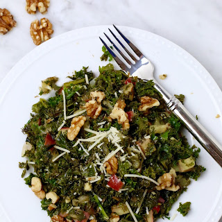 Sautéed Kale, Apple and Walnut Salad