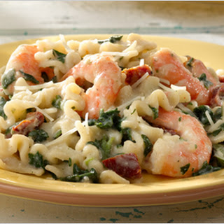 Pasta with Shrimp and Sundried Tomatoes.