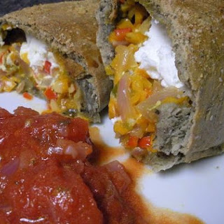 Goat Cheese and Peppers Pockets.