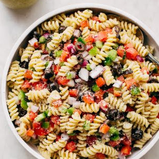Easy California Pasta Salad with Homemade Italian Dressing Recipe