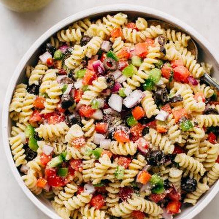 Easy California Pasta Salad with Homemade Italian Dressing Recipe