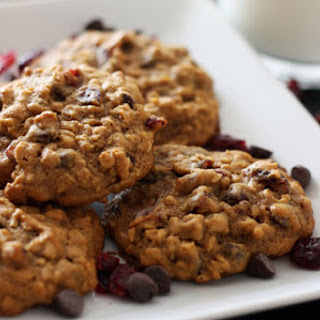 Pumpkin Oatmeal Cookies with Dried Cranberries & Chocolate Chips Recipe