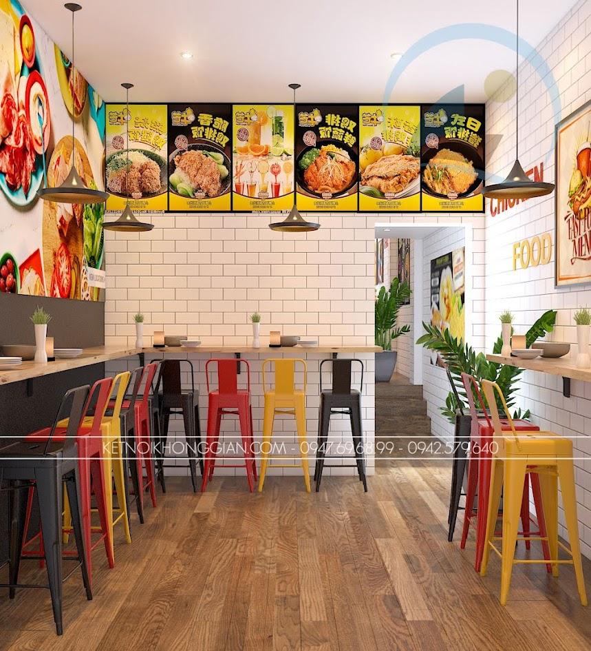 thiết kế cửa hàng gà rán đài loan 8