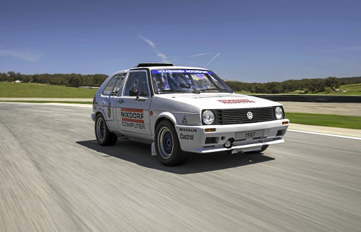 It has been twenty years since the Twin Golf took to a track and back then it was the notorious Pikes Peak gravel hillclimb not Ascari's beautiful tarmac. Picture: VOLKSWAGEN